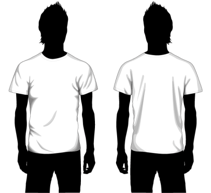 Vector Boys T-shirt Template Front and Back