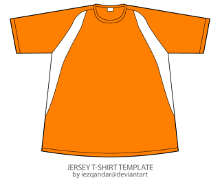 Vector Jersey T-shirt Template