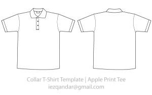 Vector Collar Tee Template