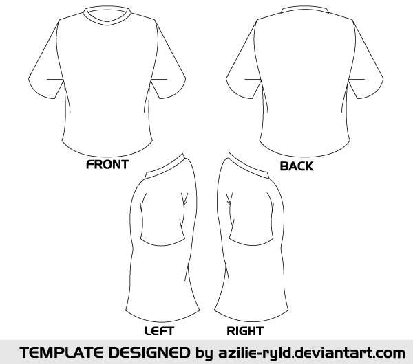 Blank tshirt template vector front and back 123freevectors blank tshirt template vector front and back maxwellsz