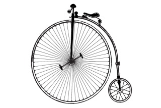 Vintage Old Fashioned Bicycle Free Clip Art