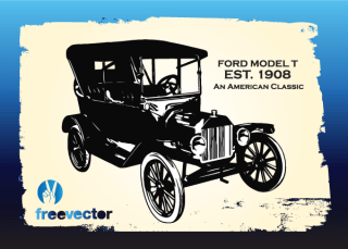 Vintage Ford Car Free Vector