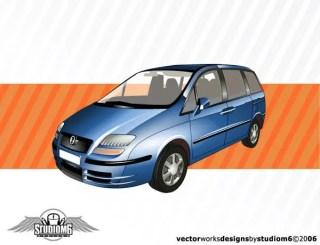 Free Blue Car Vector