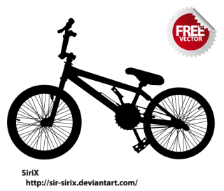 Free Bicycle Silhouette Vector