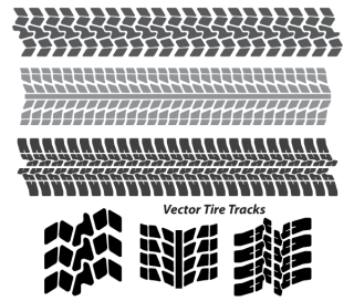 Tire Tracks Free Vector Art