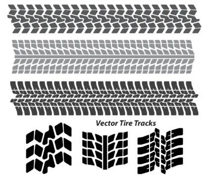 Tire Tracks Free Vector Art