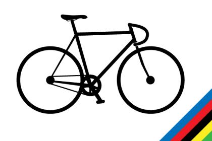Track Bike Vector Silhouette Free