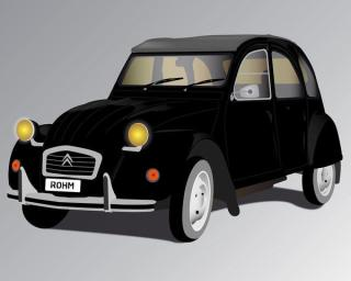 Free Vector Old French Car: Deux Chevaux