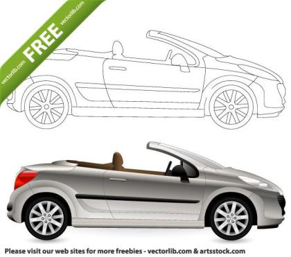 Free Vector Cabriolet Car