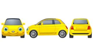 Free Yellow Car Vector Image