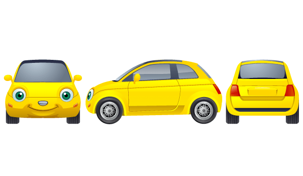 Free Yellow Car Vector Image