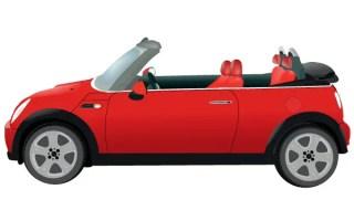 Mini Morris Car Vector Image
