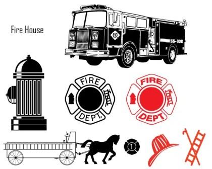 Free Fire Department Vector Art