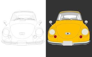 Free Classic Car vector Art in Yellow