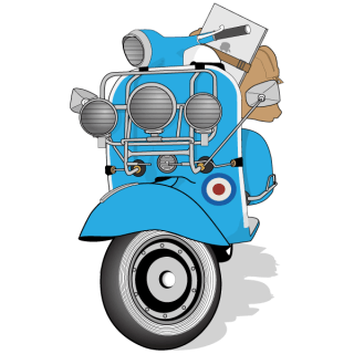 Free Vespa Scooter Vector