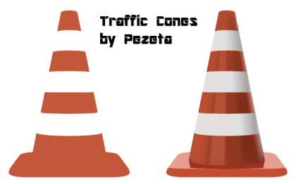 Free Traffic Cones Vector