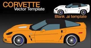 Corvette ZR1 Free Vector Template