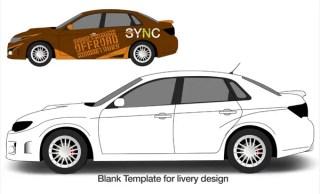 Subaru WRX Free Vector Template