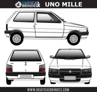Fiat Uno Mille Vector Image