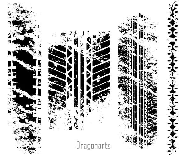 Free Grunge Tire Tracks Vector Art
