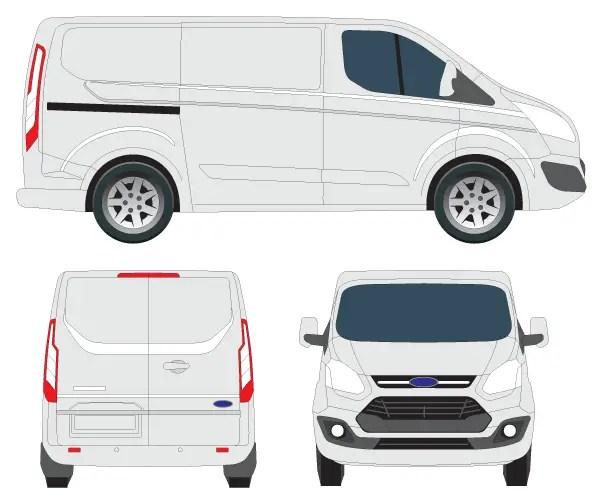 Ford Transit 350 >> Transit Custom Tourneo Vector Image | 123Freevectors