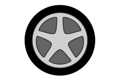 Free Car Wheel Vector Art