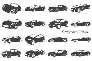 Free Supercars Icons Vector