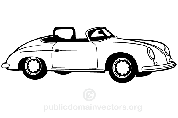 Free Vintage Car Vector Art