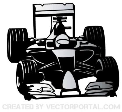 Formula One Car Vector
