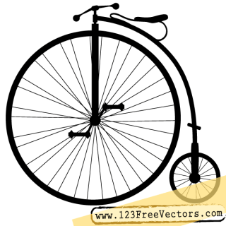 Penny-Farthing Bicycle Vector Clip Art