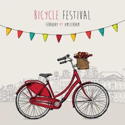 Bike Festival Vector Background