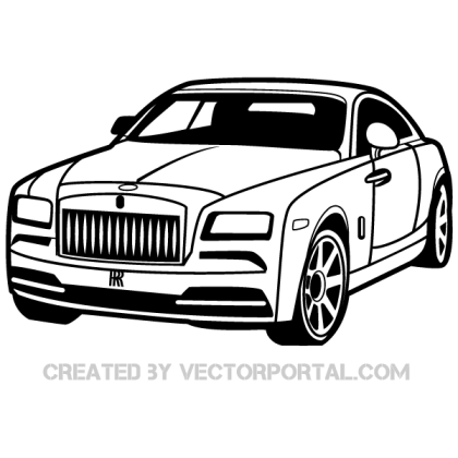 Rolls-Royce Car Vector Image