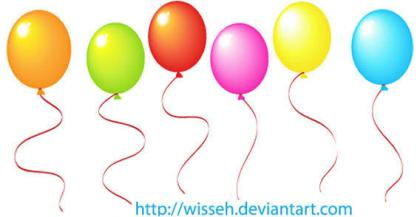 Color Balloons Free Vector