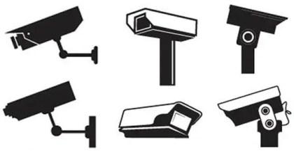Free CCTV Camera Vector Graphics