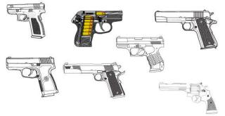 Guns Vector Art