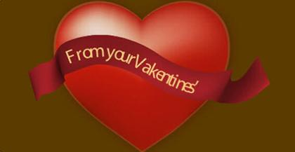 Red Valentine Heart with Banner Clipart