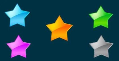 Free Vector Glass Stars