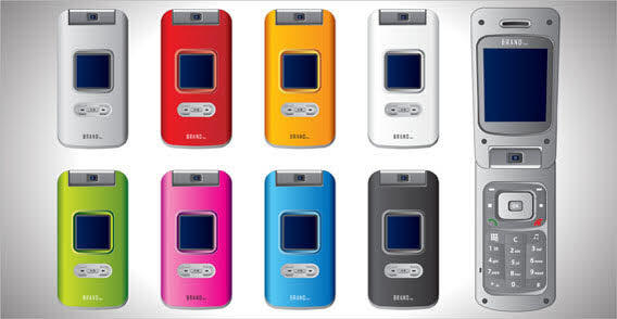 Free Vector Cell Phones