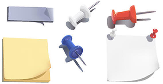 Free Vector Post-it Notes & Push Pins