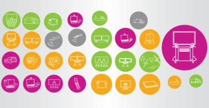 Technology Icons Vector Graphics