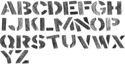 Vector Stencil Alphabet Letters