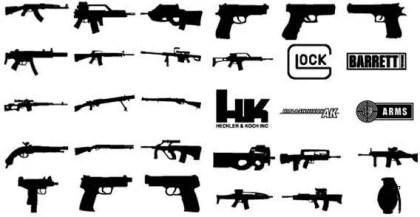 Free Vector Graphics Guns