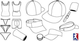 Underwear and Baseball Cap Template Vector