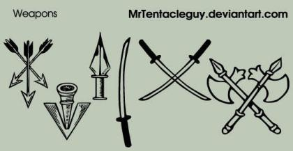 Medieval Weapons Vector Free