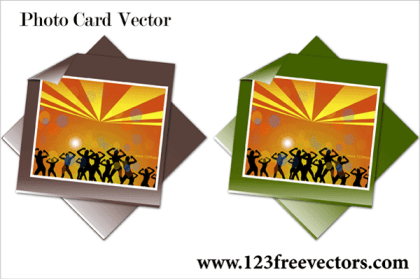 Photo Card Vector Illustration