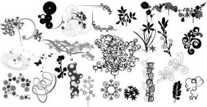 Flower Ornaments Design Elements Vector