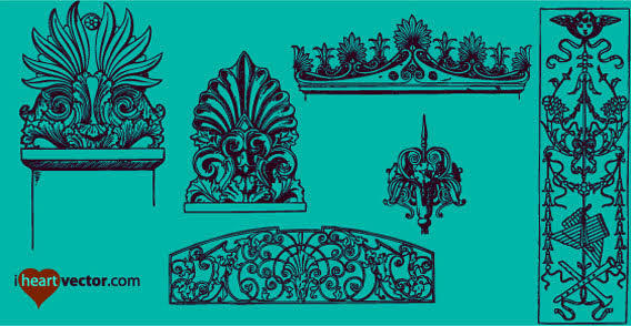 Free Ornaments Vector Pack