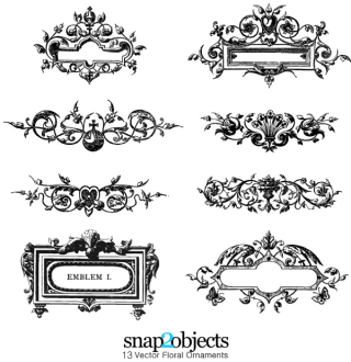 Free Vector Floral Ornaments Pack