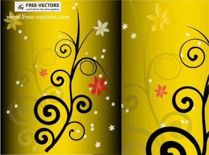Floral Ornament Backgrounds Vector