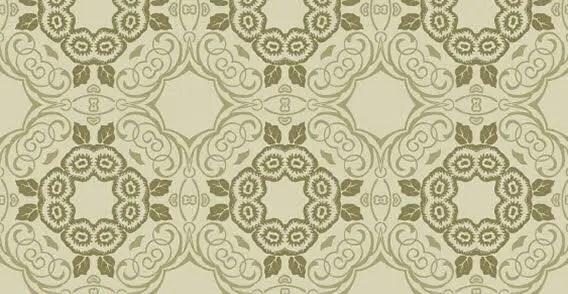 Green floral seamless wallpaper